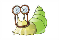 Cute snail in cool goggles Royalty Free Stock Photos
