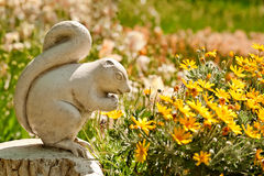 A Cute Stone Chipmunk Statue Stock Photography