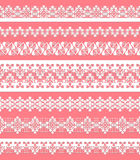 Cute straight seamless lace set Royalty Free Stock Photo