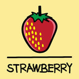 Cute Strawberry hand-drawn style, vector illustration. Cute Strawberry hand-drawn style,drawing,hand drawn vector illustration Royalty Free Stock Photos