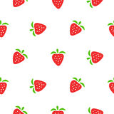 Cute strawberry red and white seamless pattern. Stock Image