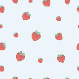 Cute strawberry seamless background Royalty Free Stock Images
