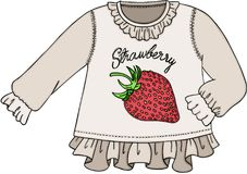 Cute strawberry sweater Stock Photo