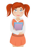 Cute student girl Royalty Free Stock Images