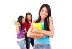 Cute student girl Stock Image
