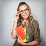 Cute student girl portrait Stock Photo