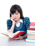 Cute Student With Hand On Chin Stock Images