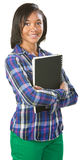 Cute Student with Notebook Stock Photo