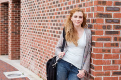 Cute student standing up Royalty Free Stock Photo