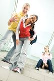 Cute students Royalty Free Stock Image