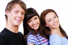 Cute students royalty free stock photography