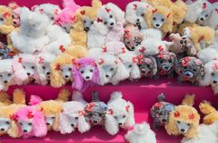Cute stuffed puppies for sale Stock Photos