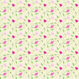 Cute style seamless background floral pattern Stock Images