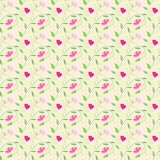 Cute style seamless background floral pattern Stock Photography