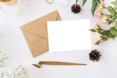 Cute and stylish branding mockup photo stock images
