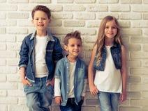 Cute stylish children Royalty Free Stock Photography