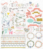 Cute stylish decorative elements Royalty Free Stock Photos