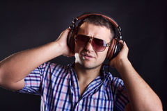 Cute stylish dj Stock Images