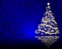 Cute stylized  Christmas tree on decorative mandala background Stock Photos