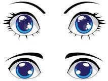 Cute Stylized Eyes Stock Photos