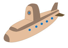 Cute Submarine for Children Illustration Stock Photo