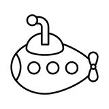 cute submarine toy isolated icon Royalty Free Stock Images