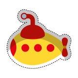 cute submarine toy isolated icon Stock Image