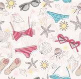 Cute summer abstract pattern royalty free illustration