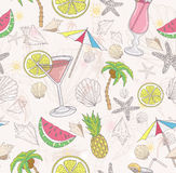 Cute summer abstract pattern Stock Images