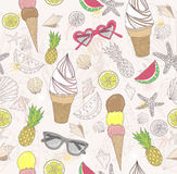 Cute summer abstract pattern stock illustration