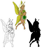 Cute Summer fairy Stock Images