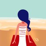 Cute summer girl on beach Royalty Free Stock Image