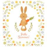 Cute summer illustration Stock Image