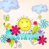 Cute summer illustration Stock Image
