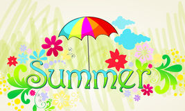 Cute summer illustration Royalty Free Stock Images