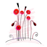 Cute summer poppies Royalty Free Stock Photo