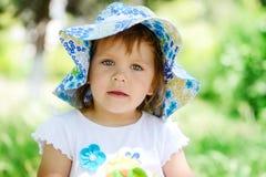 Cute summer toddler girl Stock Photos