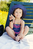 Cute summer toddler Royalty Free Stock Image