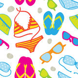 Cute summer vacations seamless Stock Image