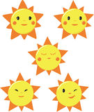 Cute Sun designs Royalty Free Stock Photo