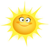 Cute sun. Illustration of a cute smiling sun