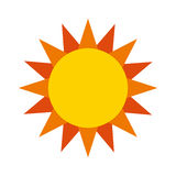 Cute sun isolated icon Stock Images