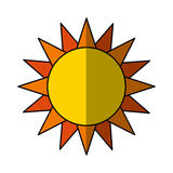 Cute sun isolated icon Royalty Free Stock Photos