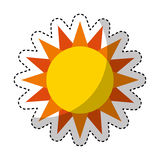 Cute sun isolated icon Royalty Free Stock Photo