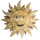 Cute sun marble Stock Image