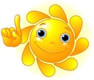 Cute Sun Pointing Up Stock Photos
