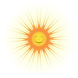 Cute Sun Smile Royalty Free Stock Photography