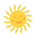 Cute sun with smile. Vector illustration Stock Image