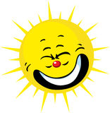 Cute sun smiling - vector Stock Photography