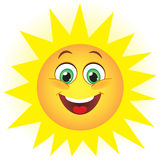 Cute sun Stock Images